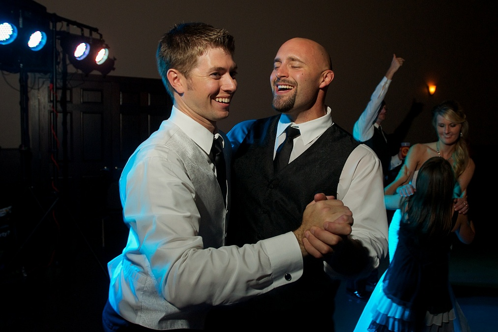 Dancing with the best man.
